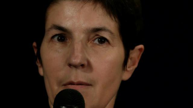 La romancière Christine Angot, le 17 novembre 2013 à Paris [KENZO TRIBOUILLARD / AFP/Archives]