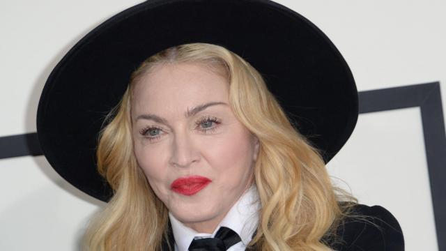 La star de la pop américaine Madonna aux 56e Grammy Awards, à Los Angeles,  en Californie, le 26 janvier 2014 [Robyn Beck / AFP/Archives]