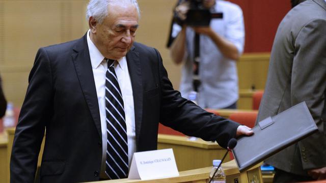 Dominique Strauss-Kahn lors d'une audition au Sénat le 26 juin 2013 à Paris [Martin Bureau / AFP/Archives]