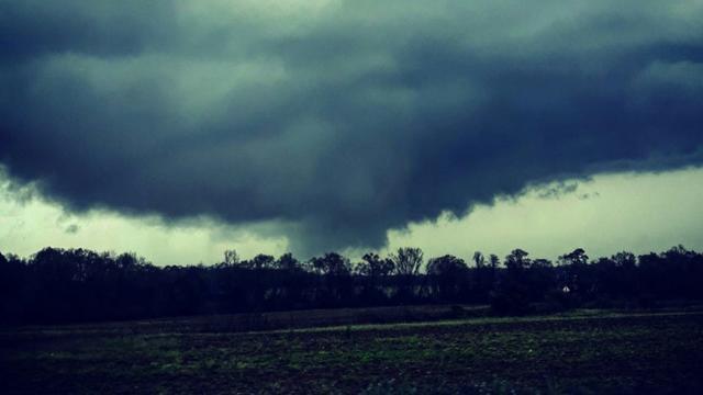 Une tornade à Dothan, en Alabama, le 3 mars 2019 [Handout / COURTESY OF JUSTIN MERRITT, INSTAGRAM/AFP]