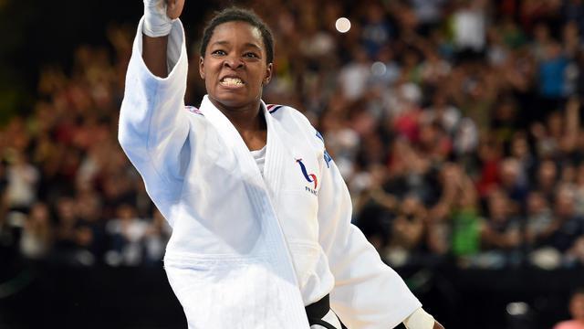 La Française Audrey Tcheumeo lors des Championnats d'Europe le 26 avril 2014 à Montpellier [Pascal Guyot / AFP/Archives]
