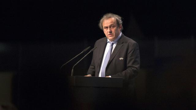 Le président de l'UEFA Michel Platini le 24 mars 2015 à Vienne [JOE KLAMAR / AFP/Archives]