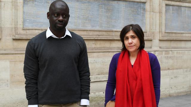 Les auteurs du rapport, Bénédicte Savoy et Felwine Sarr à Paris le 21 mars 2018 [ALAIN JOCARD / AFP/Archives]