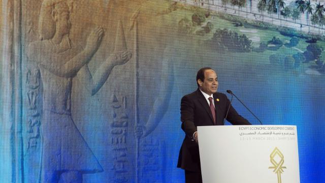 Le président égyptien Abdel Fatah al-Sissi à Sharm el-Sheikh en Egypte, le 13 mars 2015 [Brian Snyder / Pool/AFP/Archives]