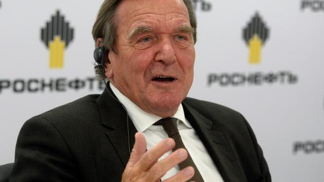 L'ex-chancelier allemand Gerhard Schröder à Saint-Pétersbourg, le 29 septembre 2017 [OLGA MALTSEVA / AFP]