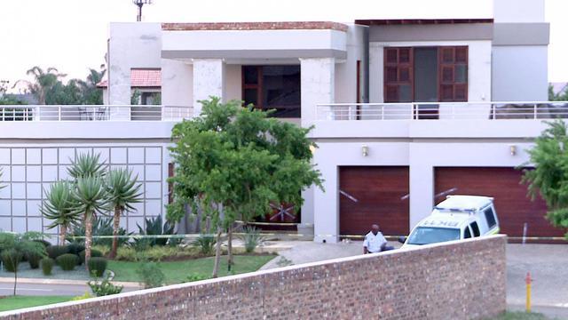 Capture d'écran d'une vue extérieure en date du 14 février 2013 de la maison de Pistorius à Pretoria [Afp Tv / AFP/Archives]
