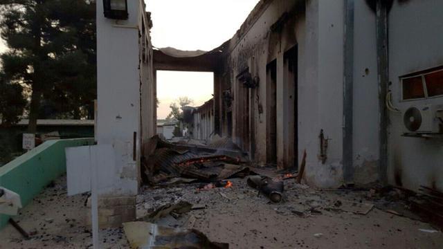 L'hôpital de MSF à Kunduz après son bombardement, le 3 octobre 2015 en Afghanistan [MSF / MSF/AFP]