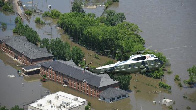 Inondations le 19 juin 2008 à Iowa City aux Etats-Unis [MANDEL NGAN / AFP/Archives]