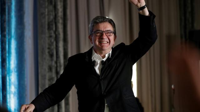 Jean-Luc Mélenchon lors de l'assemblée représentative de La France Insoumis à Paris 23 juin 2019 [Geoffroy VAN DER HASSELT / AFP]