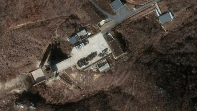 Image stellite de DigitalGlobe, du site de lancement de fusées de Sohae, en Corée du Nord, le 5 décembre 2018 [HO / Satellite image ©2019 DigitalGlobe, a Maxar company/AFP/Archives]