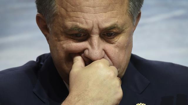 Le ministre russe des Sports Vitali Moutko à Moscou le 30 octobre 2015 [ALEXANDER NEMENOV / AFP/Archives]