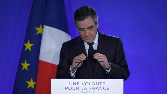 François Fillon, le 23 avril 2017 à Paris [Lionel BONAVENTURE / AFP]