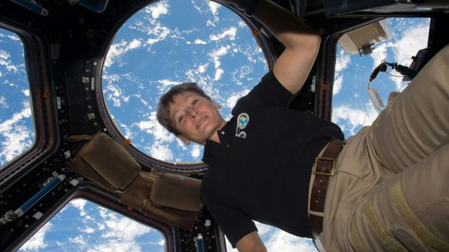 L'astronaute Peggy Whitson à bord de la Station spatiale internationale, le 24 avril 2017 [Handout / NASA/AFP/Archives]