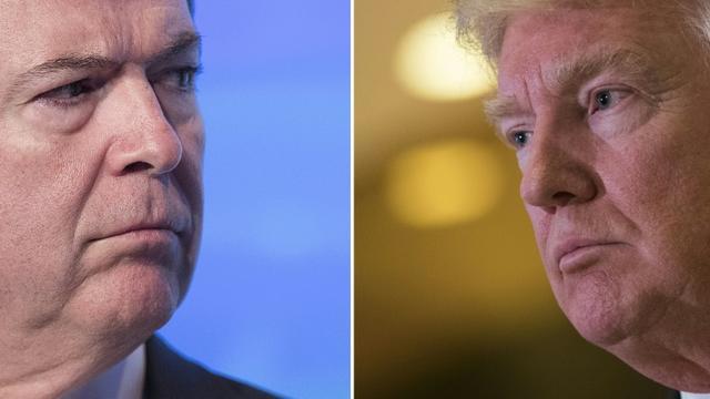 James Comey, le 8 septembre 2016 à Washington et Donald Trump, photographié le 13 janvier 2017 à New York [Drew Angerer, Jim WATSON / AFP/Archives]