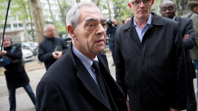 Henri Emmanuelli le 23 avril 2012 à Paris [Bertrand Langlois / AFP/Archives]