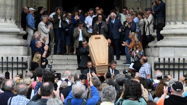 Obsèques du réalisateur Jean-Pierre Mocky à l'église Saint-Sulpice à Paris le 12 août 2019 [DOMINIQUE FAGET / AFP]