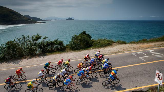 Des cyclistes aux Jeux paralympiques, le 17 septembre 2016 à Rio [Simon Bruty for OIS / AFP]