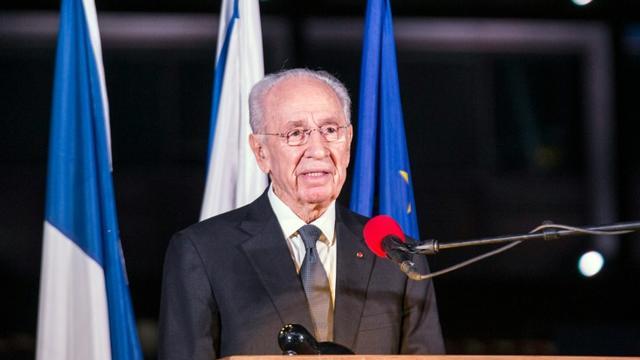 L'ancien président israélien Shimon Peres, le 14 novembre 2015 à Tel-Aviv [JACK GUEZ / AFP/Archives]