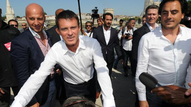 Le Premier ministre Manuel Valls à son arrivée le 29 août 2015 à l'université d'été du PS à La Rochelle [MEHDI FEDOUACH / AFP]