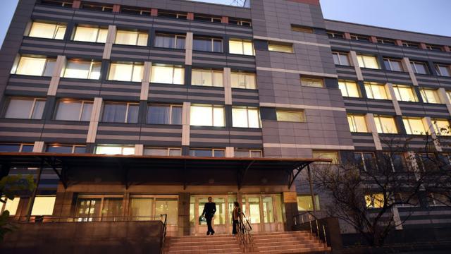 L'immeuble abritant le siège du Laboratoire antidopage de Moscou, le 10 novembre 2015 [YURI KADOBNOV / AFP]