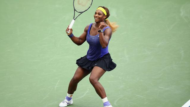 Serena Williams, victorieuse du tournoi de Cincinnati, le 17 août 2014  [Andy Lyons / Getty Images/AFP]