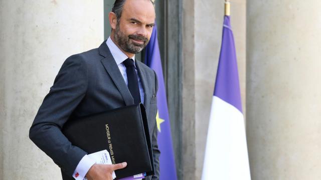 Le Premier ministre Edouard Philippe sur le perron de l'Elysée, le 19 septembre 2018 à Paris [ludovic MARIN / AFP/Archives]