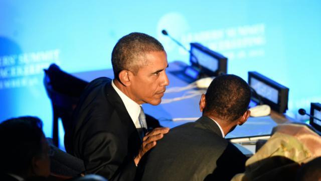 Le président Barack Obama le 28 septembre 2015 à l'Onu à New York [ALAIN JOCARD / AFP]