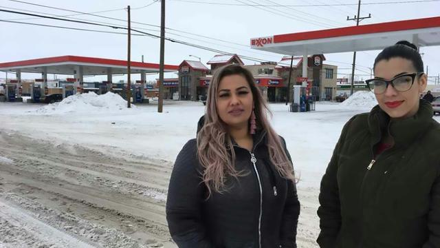 Martha Hernandez (à gauche) et Ana Suda à Havre, dans le Montana (Etats-Unis), le 23 janvier 2019  [HO / ACLU of Montana/AFP/Archives]