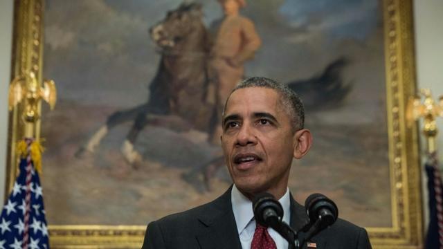 Le président américain Barack Obama, le 25 novembre 2015 à Washington [NICHOLAS KAMM / AFP/Archives]