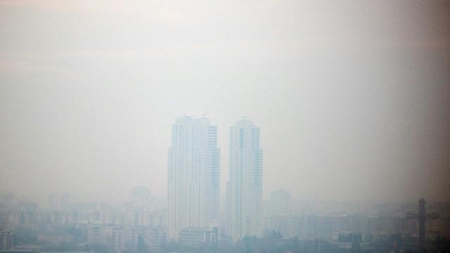Vue de Skopje, l'une des villes les polluées d'Europe, en décembre 2018 [Robert ATANASOVSKI / AFP/Archives]