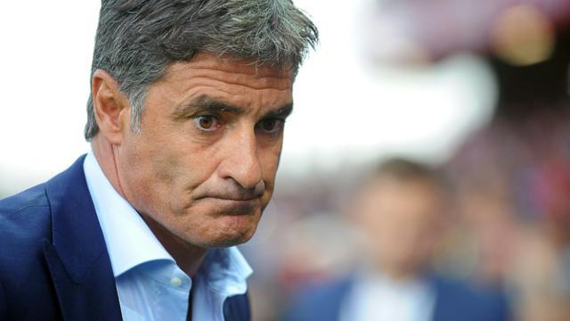 Michel, l'entraîneur de Marseille, le 28 août 2015 à Guingamp [Fred Tanneau / AFP/Archives]