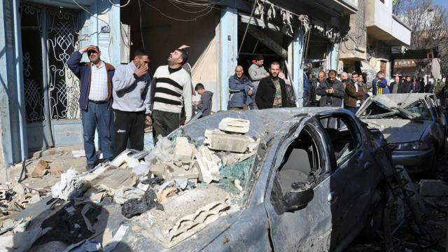 Attentat à la voiture piégée le 12 décembre 2015 à Homs  [STR / AFP/Archives]