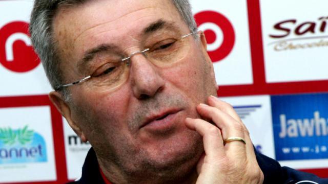 Roger Lemerre, alors entraîneur de l'Etoile du Sahel, en conférence de presse, le 18 décembre 2013 à Sousse (Tunisie)  [BECHIR BETTAIEB / AFP/Archives]