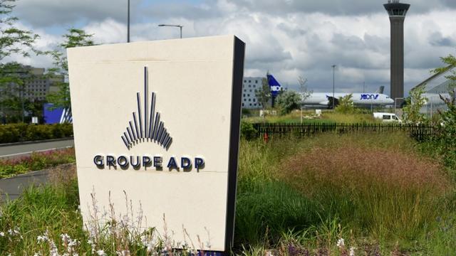Logo d'Aéroports de Paris le 14 juin 2018 à l'aéroport de Roissy [ERIC PIERMONT / AFP/Archives]