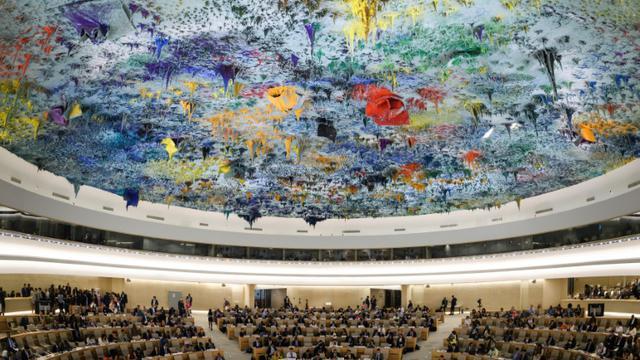 Le 39e Conseil des droits de l'homme au siège de l'ONU à Genève, le 10 septembre 2010 [Fabrice COFFRINI / AFP/Archives]