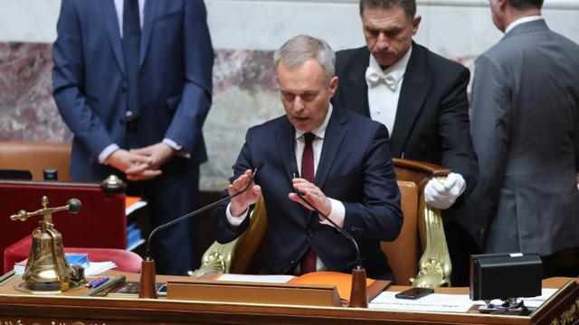 Le président de l'Assemblée nationale François de Rugy lors d'une séance de questions au gouvernement le 10 juillet 2018 à Paris [JACQUES DEMARTHON / AFP/Archives]