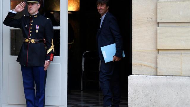 Nicolas Hulot à Matignon, le 25 septembre 2017. [CHRISTOPHE SIMON / AFP]