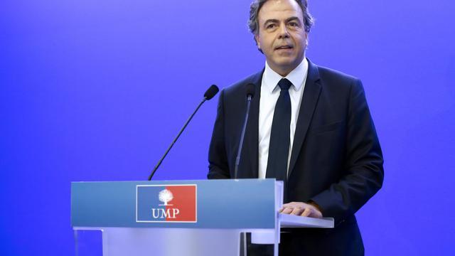 Luc Chatel, secrétaire général intérimaire de l'UMP, lors d'une conférence de presse le 14 juillet 2014 à Paris [Thomas Samson / AFP/Archives]