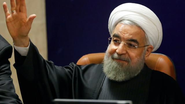 Le président iranien Hassan Rohani, à Téhéran le 21 décembre 2015 [ATTA KENARE / AFP/Archives]