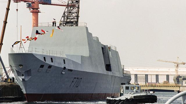 La frégate Lafayette, l'une des six frégates vendue à Taïwan, à la base navale de Lorient le 13 juin 1992 [Philippe Huguen / AFP/Archives]