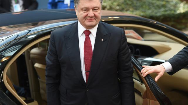 Le président ukrainien Petro Porochenko, le 12 février 2015 à Bruxelles [EMMANUEL DUNAND / AFP/Archives]