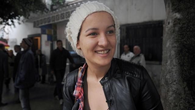 L'ex-Femen tunisienne Amina Sboui, le 31 mars 2014 à Tunis [Fethi Belaid / AFP/Archives]