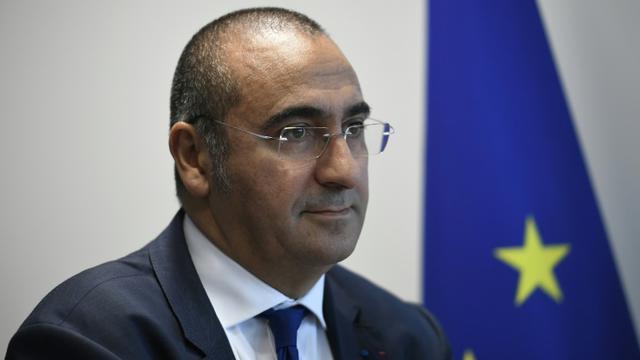 Le nouveau directeur général de la sécurité intérieure Laurent Nuñez, le 8 septembre 2017 au siège de la DGSI à Levallois-Perret, près de Paris [Lionel BONAVENTURE / AFP/Archives]