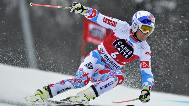 Alexis Pinturault, lors du slalom géant de Méribel, le 21 mars 2015 [JEFF PACHOUD / AFP/Archives]
