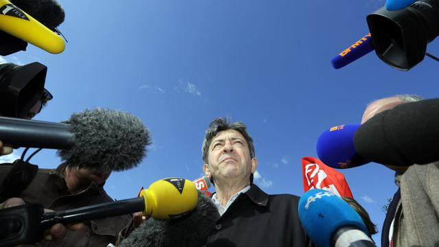 Le leader du Parti de gauche, Jean-Luc Mélenchon, le 8 avril 2014 à Braud-et-Saint-Louis (Gironde) [Nicolas Tucat / AFP/Archives]