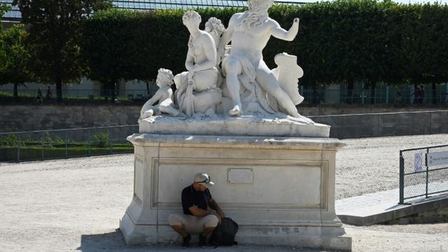 Les Jardins des Tuileries à Paris le 26 juin 2019, lors d'une canicule record [Dominique FAGET / AFP/Archives]