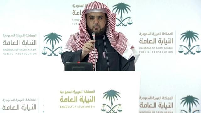 Caputre d'écran tirée d'une vidéo publiée par le ministère saoudien des médias montrant le vice-procureur général du royaume, Shalaan al-Shalaan, le 23 décembre 2019 à Ryad [HO / Saudi Arabia's Ministry of Media/AFP]