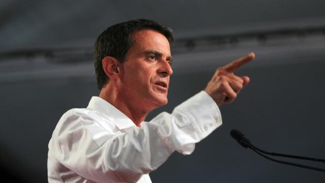 Le Premier ministre Manuel Valls, le 30 août 2015 à La Rochelle [XAVIER LEOTY / AFP]