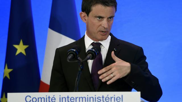 Manuel Valls, le 20 mai 2016 à Privas (Ardèche) [PHILIPPE DESMAZES / AFP]