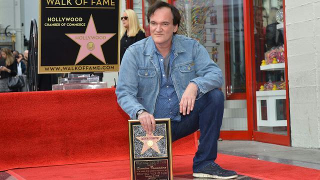 Le réalisateur Quentin Tarantino, à l'inauguration de son étoile à Hollywood, le 21 décembre 2015 [ANGELA WEISS / AFP]